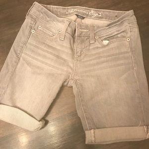 American Eagle gray denim shorts